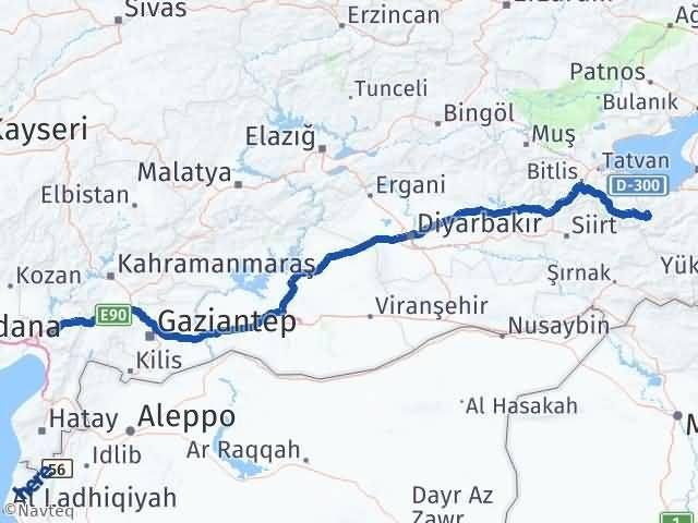 Van Bahçesaray Osmaniye Arası Kaç Km? Arası Kaç Km Saat? Nerede Yol Haritası Yakıt, Rota ve Mesafe Hesaplama