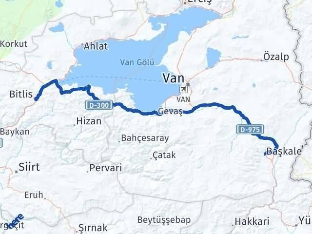 Van Başkale Bitlis Arası Kaç Km? Arası Kaç Km Saat? Nerede Yol Haritası Yakıt, Rota ve Mesafe Hesaplama