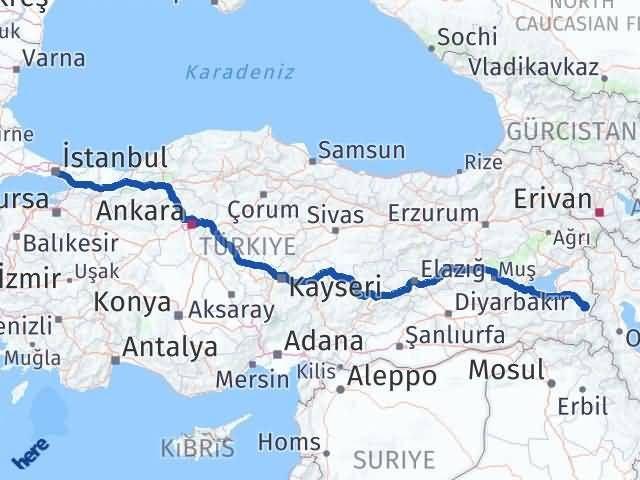 Van Başkale İstanbul Arası Kaç Km? Arası Kaç Km Saat? Nerede Yol Haritası Yakıt, Rota ve Mesafe Hesaplama