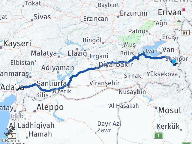 Van Başkale Osmaniye Arası Kaç Km? Arası Kaç Km Saat? Nerede Yol Haritası Yakıt, Rota ve Mesafe Hesaplama