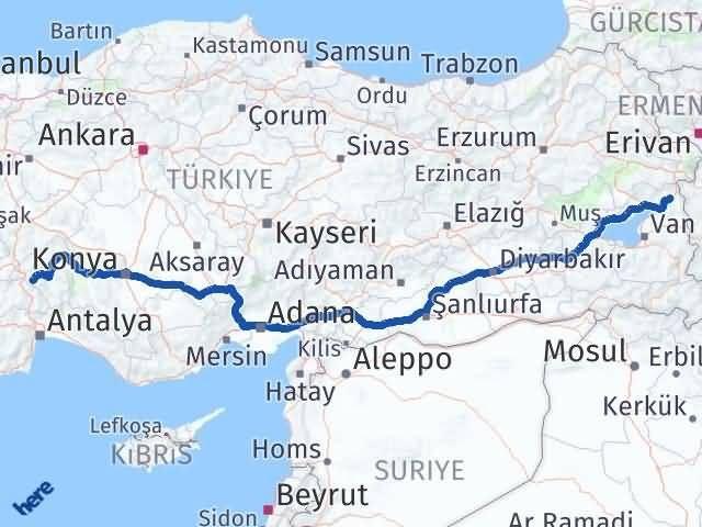 Van Çaldıran Isparta Arası Kaç Km? Arası Kaç Km Saat? Nerede Yol Haritası Yakıt, Rota ve Mesafe Hesaplama