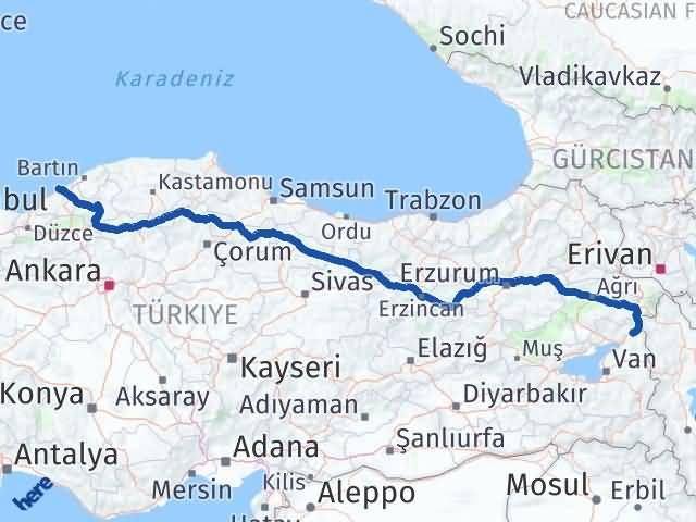 Van Çaldıran Zonguldak Arası Kaç Km? Arası Kaç Km Saat? Nerede Yol Haritası Yakıt, Rota ve Mesafe Hesaplama