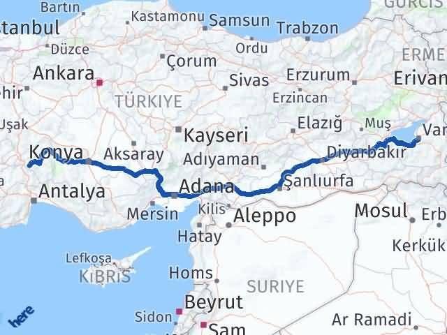 Van Edremit Isparta Arası Kaç Km? Arası Kaç Km Saat? Nerede Yol Haritası Yakıt, Rota ve Mesafe Hesaplama