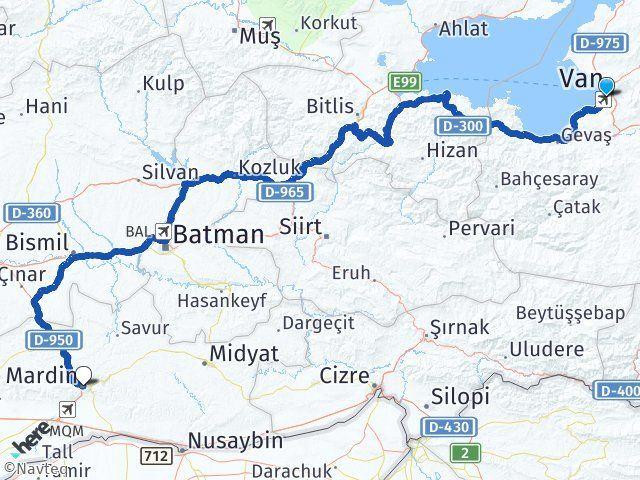Van Edremit Mardin Arası Kaç Km? Arası Kaç Km Saat? Nerede Yol Haritası Yakıt, Rota ve Mesafe Hesaplama