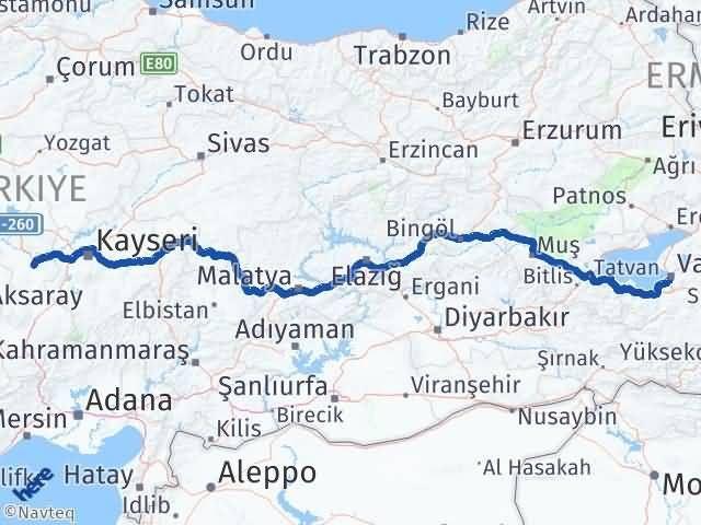 Van Edremit Nevşehir Arası Kaç Km? Arası Kaç Km Saat? Nerede Yol Haritası Yakıt, Rota ve Mesafe Hesaplama
