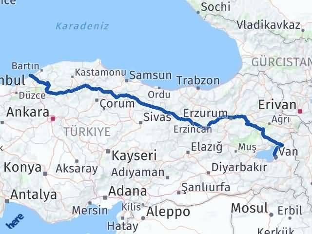 Van Edremit Zonguldak Arası Kaç Km? Arası Kaç Km Saat? Nerede Yol Haritası Yakıt, Rota ve Mesafe Hesaplama