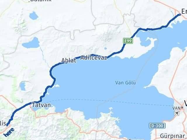 Van Erciş Bitlis Arası Kaç Km? Arası Kaç Km Saat? Nerede Yol Haritası Yakıt, Rota ve Mesafe Hesaplama