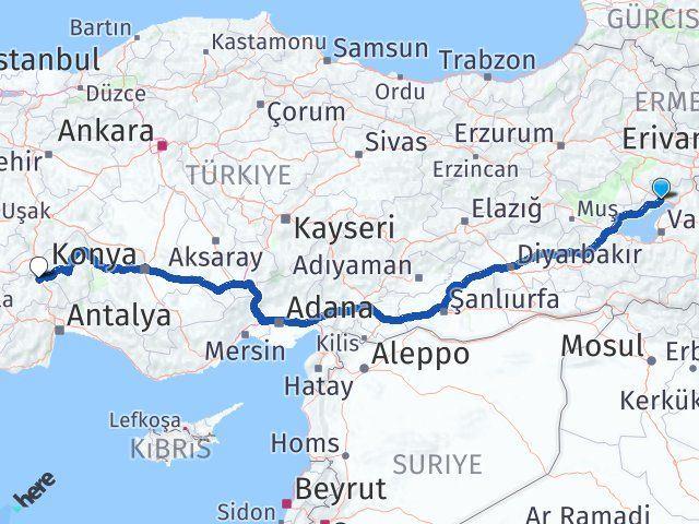 Van Erciş Burdur Arası Kaç Km? Arası Kaç Km Saat? Nerede Yol Haritası Yakıt, Rota ve Mesafe Hesaplama