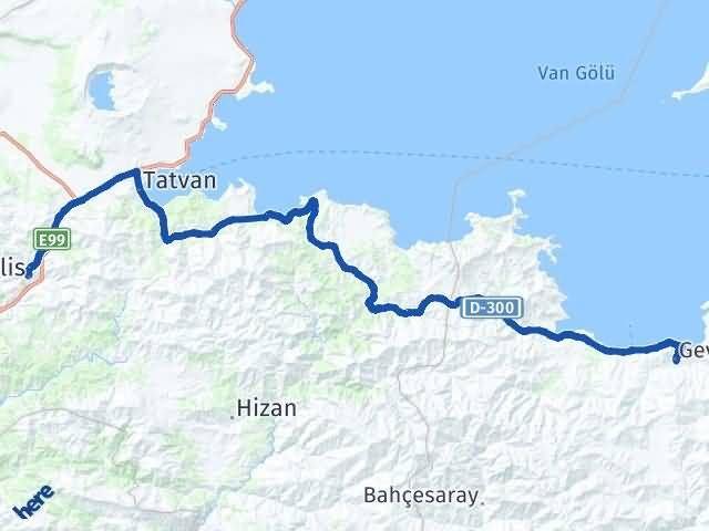 Van Gevaş Bitlis Arası Kaç Km? Arası Kaç Km Saat? Nerede Yol Haritası Yakıt, Rota ve Mesafe Hesaplama