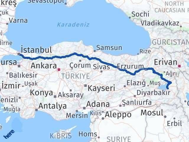 Van ile İstanbul Arası Kaç Km? Kaç Saat? - Kmhesaplama.com Arası Kaç Km Saat? Nerede Yol Haritası Yakıt, Rota ve Mesafe Hesaplama