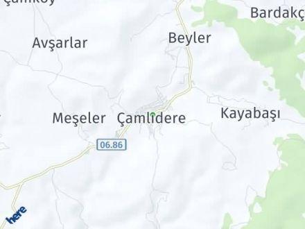 Çamlıdere Arası Kaç Km? Çamlıdere İlçe Haritası