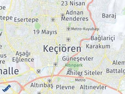 Keçiören Arası Kaç Km? Keçiören İlçe Haritası