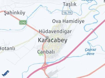 Karacabey Arası Kaç Km? Karacabey İlçe Haritası