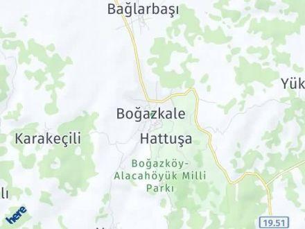Boğazkale Arası Kaç Km? Boğazkale İlçe Haritası