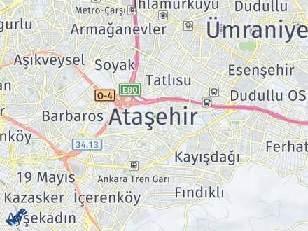 Ataşehir Arası Kaç Km? Ataşehir İlçe Haritası