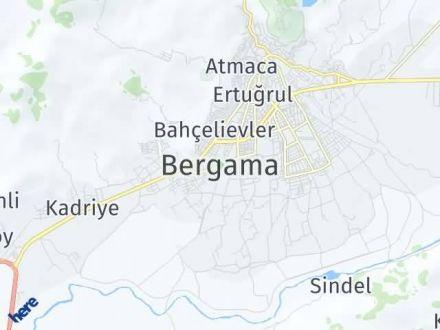 Bergama Arası Kaç Km? Bergama İlçe Haritası