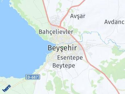 Beyşehir Arası Kaç Km? Beyşehir İlçe Haritası