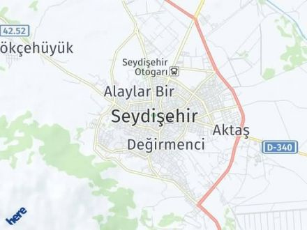 Seydişehir Arası Kaç Km? Seydişehir İlçe Haritası