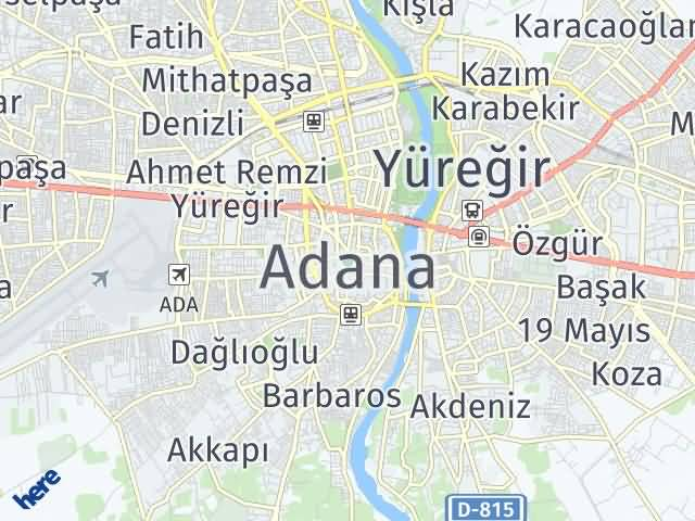 Adana Arası Kaç Km? Adana İlçeleri Şehir Haritası