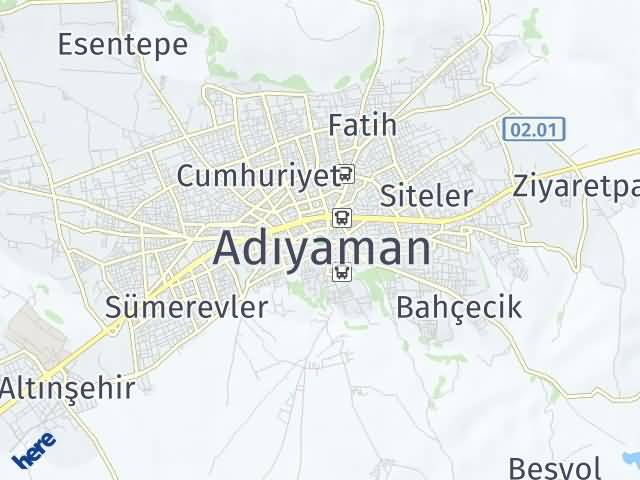 Adıyaman Arası Kaç Km? Adıyaman İlçeleri Şehir Haritası