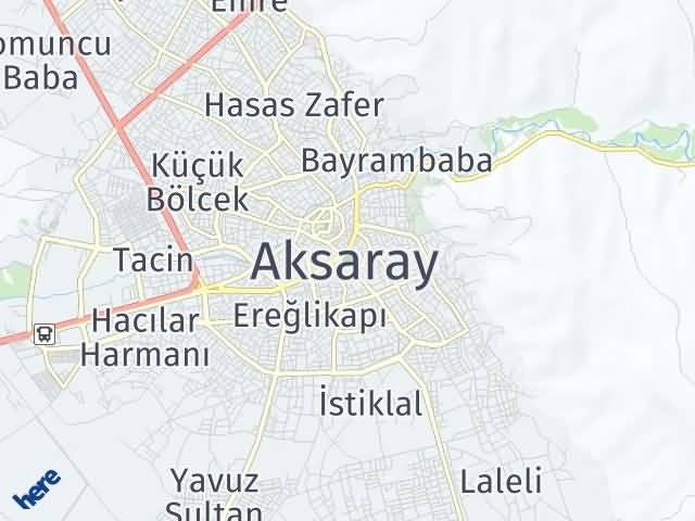 Aksaray Arası Kaç Km? Aksaray İlçeleri Şehir Haritası