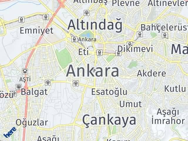 Ankara Arası Kaç Km? Ankara İlçeleri Şehir Haritası