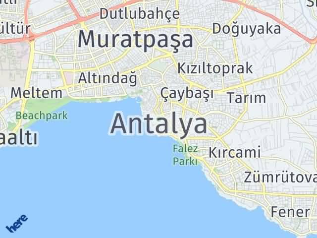 Antalya Arası Kaç Km? Antalya İlçeleri Şehir Haritası