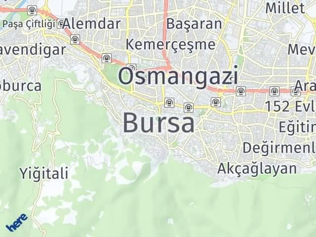 Bursa Arası Kaç Km? Bursa İlçeleri Şehir Haritası