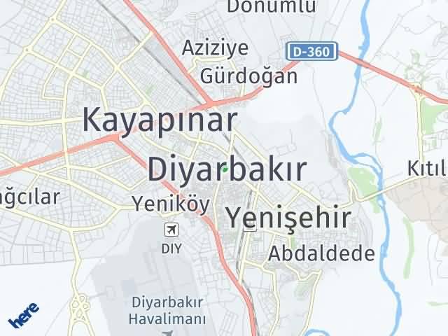 Diyarbakır Arası Kaç Km? Diyarbakır İlçeleri Şehir Haritası