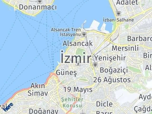 İzmir Arası Kaç Km? İzmir İlçeleri Şehir Haritası