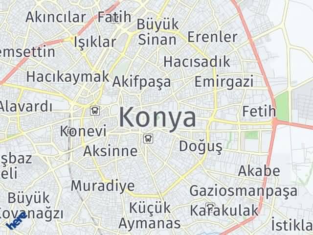 Konya Arası Kaç Km? Konya İlçeleri Şehir Haritası