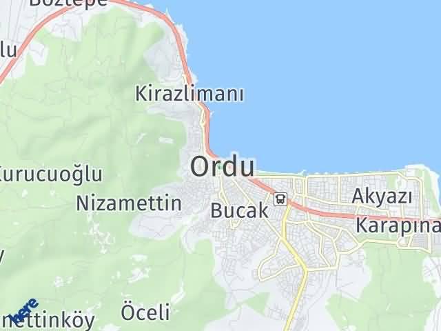 Ordu Arası Kaç Km? Ordu İlçeleri Şehir Haritası