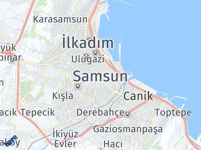 Samsun Arası Kaç Km? Samsun İlçeleri Şehir Haritası