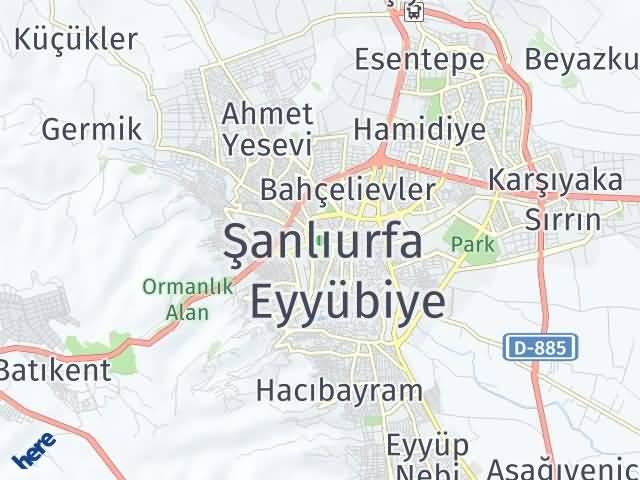 Şanlıurfa Arası Kaç Km? Şanlıurfa İlçeleri Şehir Haritası